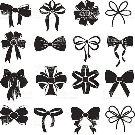 black bow clip art vector graphics 6791 black bow eps gift decorative ribbon bow vector icons set stock vector
