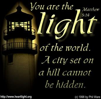 scripture about being the light matthew 5 14 illustrated quot let your light shine