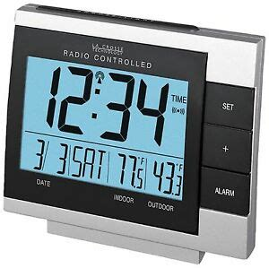 ws 8056u la crosse technology atomic alarm clock with in out temperature tx6u ebay