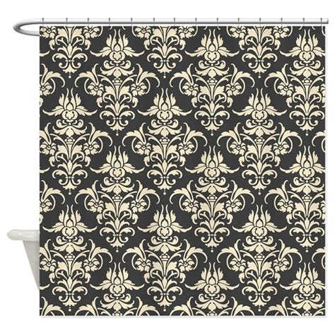 grey cream curtains beautiful dark gray cream damask shower curtain by nicholsco