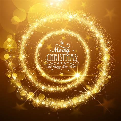 golden glow christmas holiday background vector 04