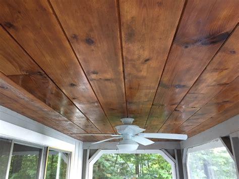 wood ceiling restoration restoring  tongue  groove