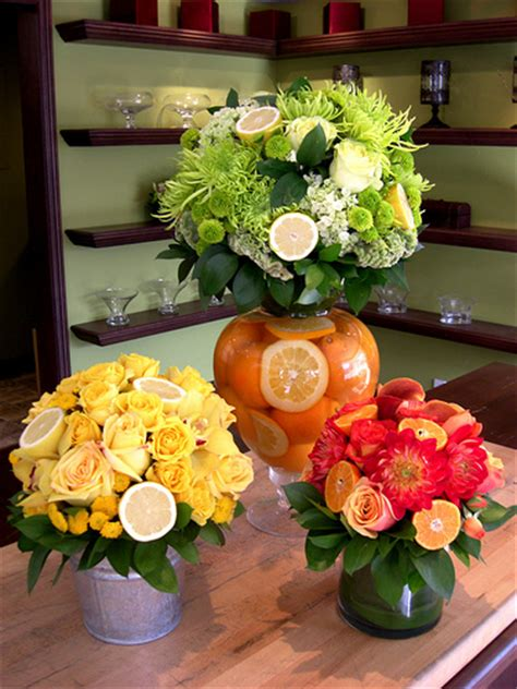 Flower Arrangements With Fruit In Vase by Creative Use Of Flowers Fruit Together I Seen