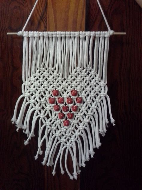 heart macrame pattern kitchen dining
