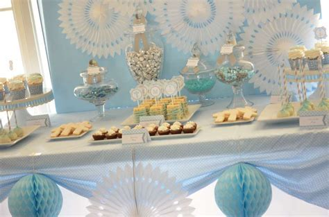 Baby Blue and Silver (Grey) Baptism Party Ideas   Photo 10