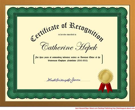 templates for award certificates in word create a certificate of recognition in word words seals
