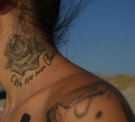 tattoo quotes for back of neck quote tattoos on neck