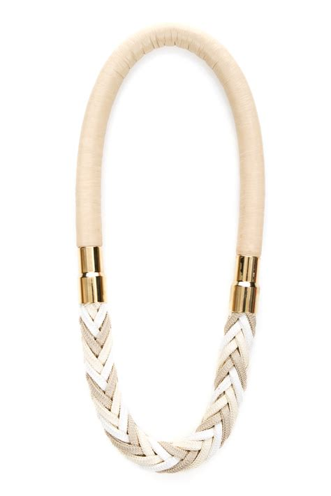 rope for jewelry florian rope necklace beige white mschr02