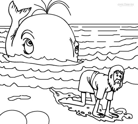 printable coloring pages of jonah and the whale printable jonah and the whale coloring pages for kids