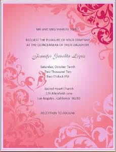 quinceanera invitation templates invitations for quinceanera dancemomsinfo