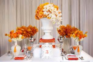 tbdress bold and unique orange wedding themes