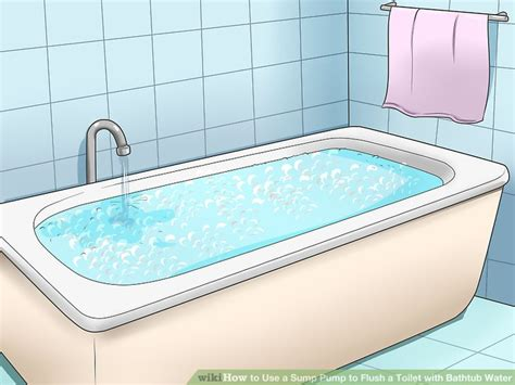 bathtubs and sinks have for the water to go down how to use a sump pump to flush a toilet with bathtub water