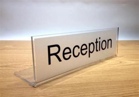 reception desk signs 120 best images about freestanding desk signs on