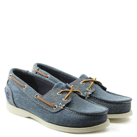 timberland classic boat shoes blue lyst timberland earthkeepers denim canvas classic boat