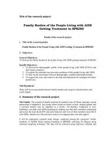 proposal hiv aids family burden old