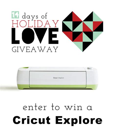 Cricut Giveaway - oleander and palm 14 days of love cricut explore giveaway