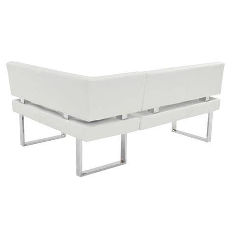 white corner bench linden white corner nook bench el dorado furniture