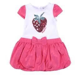 Baby strawberry decorated design white pink dress gt moschino baby