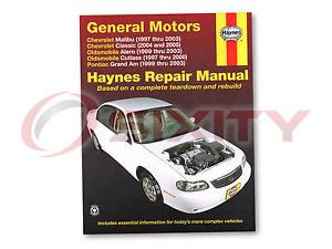 pontiac grand am haynes repair manual se2 gt gt1 se1 shop service garage boo qn ebay