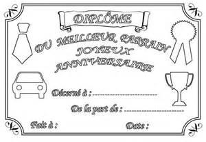 Coloriage Diplome Anniversaire Parrain Et Marraine L L