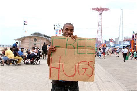 free hug guy free hugs guy punches out girl on coney island boardwalk