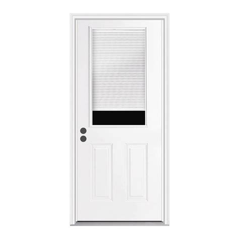 Half Lite Exterior Door Shop Reliabilt Blinds Between The Glass Half Lite Prehung Inswing Steel Entry Door Common 30