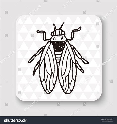 Fly Bug Doodle Stock Vector 368034653