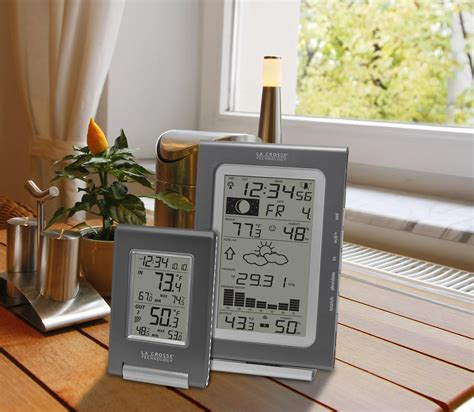 small weather stations for home la crosse technology combo11 it atomic weather