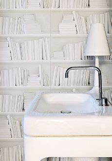 cloakroom on book wallpaper bathroom