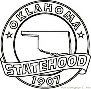 in color okc coloring pages oklahoma countries gt usa free printable