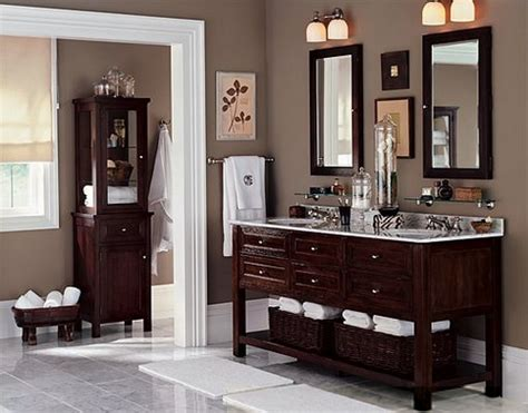 taupe bathroom by pottery barn benjamin for an flickr