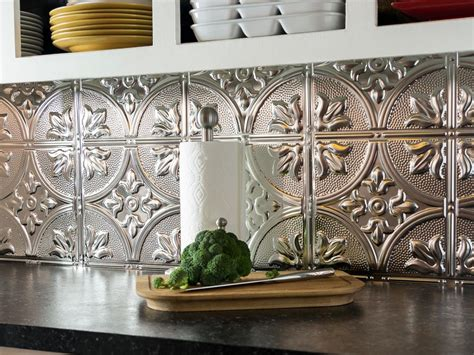 metal tiles for kitchen backsplash how to install a tin tile backsplash how tos diy