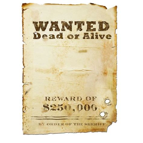 wanted poster template free 8 best images of free printable wanted posters printable