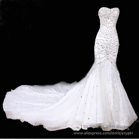 luxury sweetheart mermaid wedding dresses