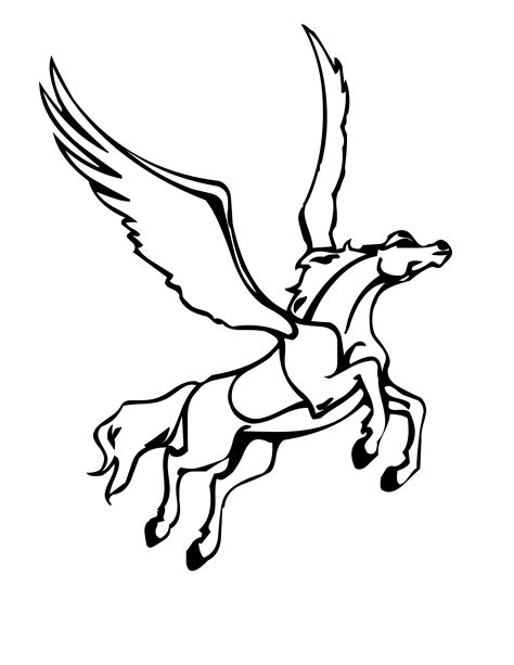 free printable pegasus coloring pages for kids