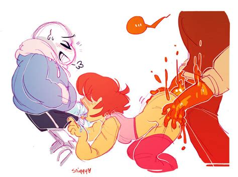 There Is Alot Of Porn Here Sniggysmut Request Sans And Frisk And Grillby