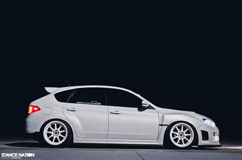 subaru hatchback white in white stancenation form gt function