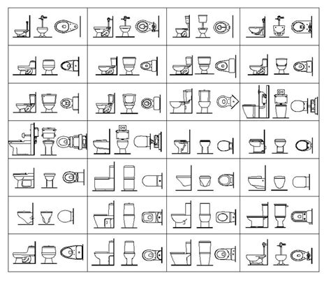 toilet symbol floor plan toilet elevation google search drafting pinterest