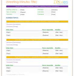 Standard Minutes Of Meeting Template by Meeting Minutes Template Standard Format Dotxes