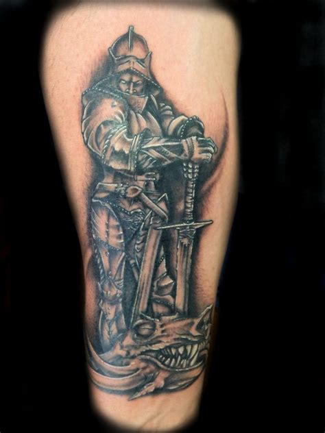 medieval knight tattoo designs st george tat ideas