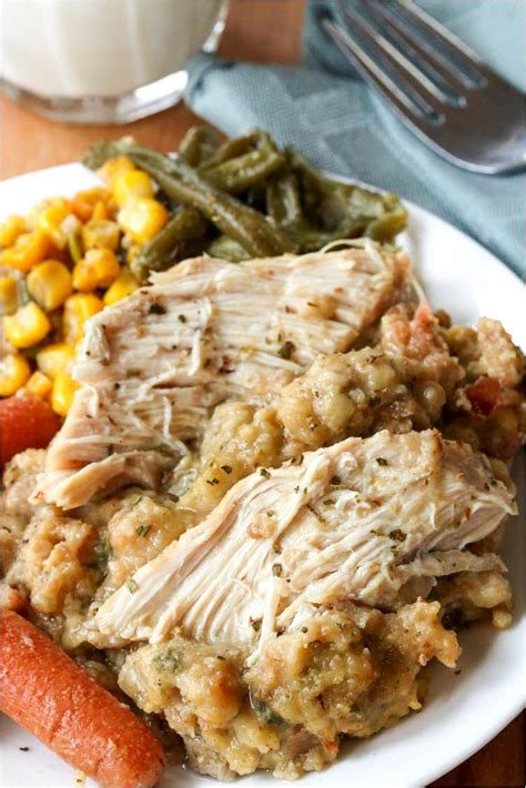 French Country Chicken Recipe - crock pot chicken and stuffing the cozy cook