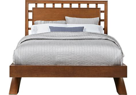 dark wood bed belcourt cherry 3 pc king platform bed with lattice