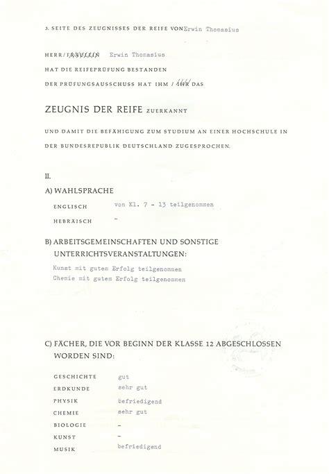 Lebenslauf Gymnasium Abitur Lebenslauf Erwin Thomasius