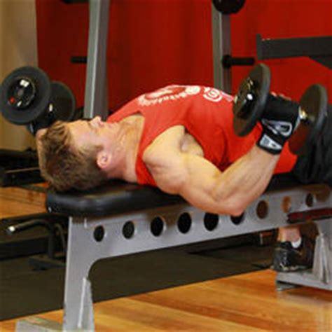flat bench flye dumbbell flyes exercise guide and video