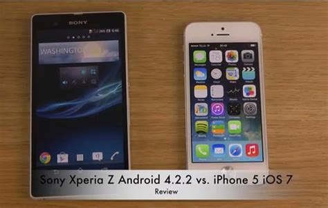 android vs iphone review sony xperia z vs iphone 5 and android 4 2 2 vs ios 7 phonesreviews uk mobiles apps