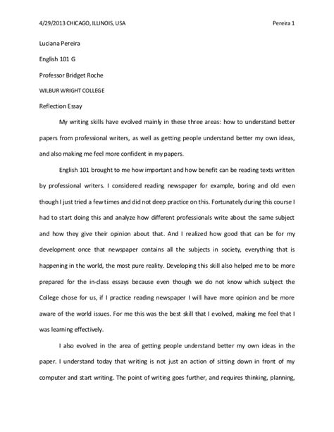 Do My Best Reflective Essay by Reflection Essay Draft Luciana Medina