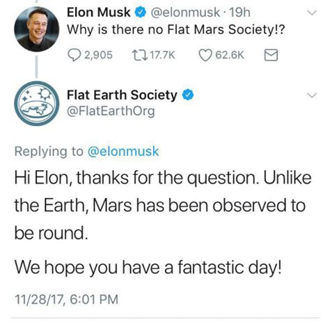 elon musk flat earth society elon musk 19h why is there no flat mars society 02905