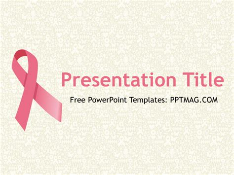 Breast Cancer Powerpoint Background Powerpoint Breast Cancer Ppt Template Free