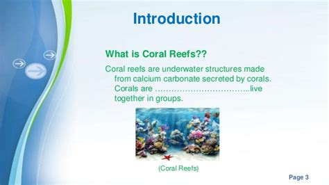 Impacts Of Climate Change On Marine Organism Coral Reefs Coral Reef Powerpoint Template Free