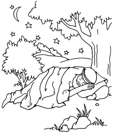 jacob dreaming genesis 28 from thru the bible coloring